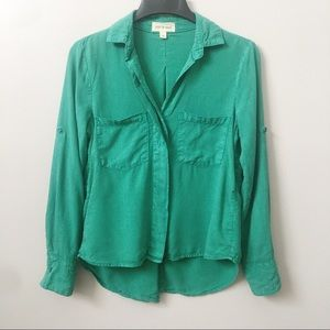 Anthropologie Cloth + Stone Ashby Top In Green